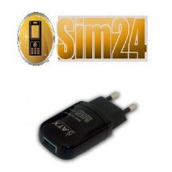 ŁADOWARKA SIECIOWA ze złączem USB/black Output 5V/