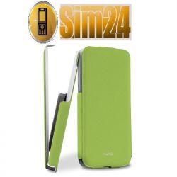 Etui Puro Flipper Flap do iPhone 5C zielone