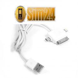 Kabel USB 3w1 - iPhone 4, iPhone 5, micro USB
