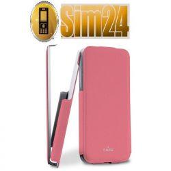 Etui Puro Flipper Flap do iPhone 5C różowe