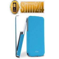 Etui Puro Flipper Flap do iPhone 5C niebieskie