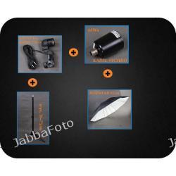 F&V Zestaw oświetleniowy 68Ws + parasol czarno-biały + synchro 75cm Z164