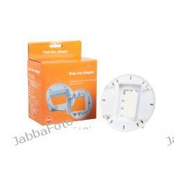 Adapter lamp systemowych Sony F32X, Canon 430EX, METZ48/58AF-1 43x63mm do zestawu akcesoriów do lamp
