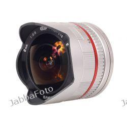 Samyang 8mm f/2,8 UMC Fish-eye do SONY NEX Srebrny