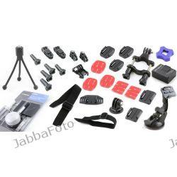 Zestaw montażowy 36w1 do GoPro Hero + przyssawka + akumulator