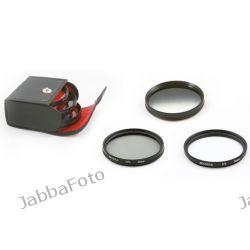 Zestaw filtrów 55mm UV / CPL / Szary połówkowy