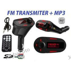 TRANSMITER FM MP3 / WMA CZYTNIK SD/MMC +PILOT