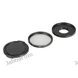 Zestaw ochronny (adapter, filtr, dekielek) 52mm do GoPro Hero 3, 3+ (GP125)