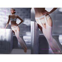 Slubne Biale Rajstopy Gatta Babette1 StripPanty 3M