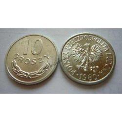 10 gr groszy 1980 mennicza mennicze