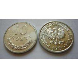 10 gr groszy 1981 mennicza mennicze