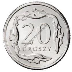 20 gr groszy 1990 mennicza mennicze z woreczka