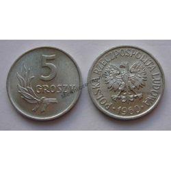 5 gr groszy 1960 mennicza mennicze