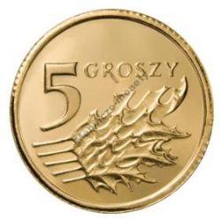 5 gr groszy 2007 mennicza mennicze z woreczka