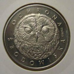 200 zł Głowa Sowy Sowa 1986 mennicza próba niklowa