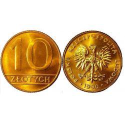 10 zł złotych nominał 1990 mennicze mennicza