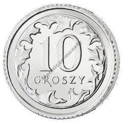 10 gr groszy 2010 mennicza mennicze z woreczka