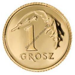 1 gr grosz 2010 mennicza mennicze z woreczka