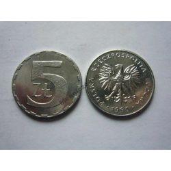 5 zł złotych 1990 mennicza mennicze