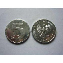 5 zł złotych 1989 mennicza mennicze