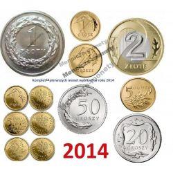 1,2,5,20,50 groszy 1,2 zł 2014 r. + 1,2,5 gr Royal