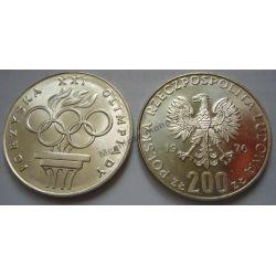 200 zł Igrzyska Olimpiada 1976 mennicza mennicze