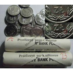 1 zł złoty 1990 mennicze ODMIANY Typ A i B