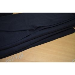 Kupon Czarnej Wełny Płaszczowej 90 cm Pozostałe