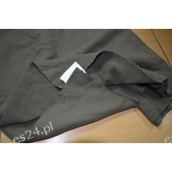 Kupon Wełny Płaszczowej Kolor Khaki 50 cm Pozostałe