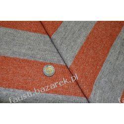 Wełna w Pasy 6,5cm Beżowo-Pomarańczowa Pozostałe