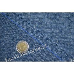 Wełna diament niebieska tweed Pozostałe