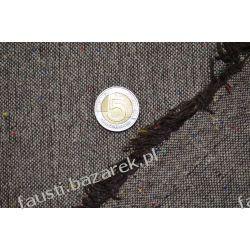 Wełna brązowa melanż tweed Kolekcje