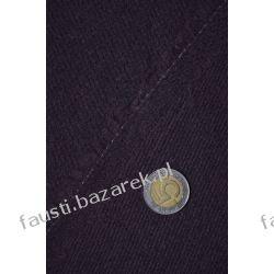 Wełna płaszczowa brązowa widoczny splot Militaria