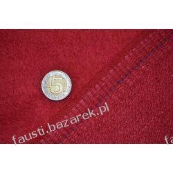 Wełna płaszczowa czerwona