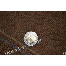 Wełna diament brązowo-oliwkowa tweed. Militaria