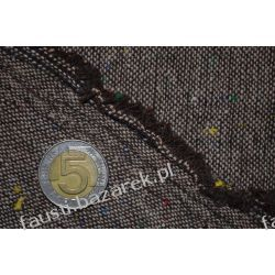 Wełna brązowa tweed. Kolekcje