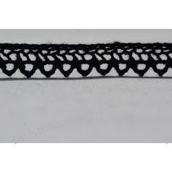 Koronka Bawełniana Czarna 15mm/1mb (kb#247cz/d)