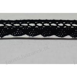 Koronka Bawełniana Czarna 15mm/1mb (kb243cz/d)