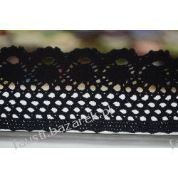Koronka Bawełniana Czarna 55mm/1mb (kb#090cz/d)