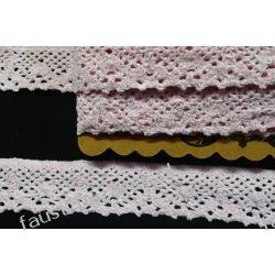 Koronka Bawełniana Różowa 40mm/1mb (kob#r/d) Koronki i hafty
