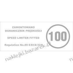 Naklejka informacyjna do ograniczników - 100 km