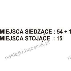 Naklejka Miejsca 54+1