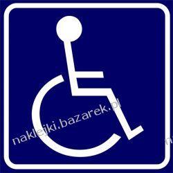 Naklejka Inwalida - do przewozu osób niepełnosprawnych - magnes