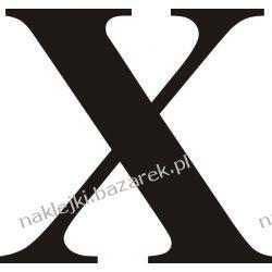 Naklejka - Cyfra X do nr rozpoznawczych
