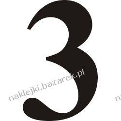 Naklejka - Cyfra 3 do nr rozpoznawczych