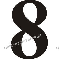 Naklejka - Cyfra 8 do nr rozpoznawczych