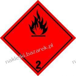 Naklejka ADR klasa 2.1 - Gazy palne - przesyłka
