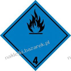 Naklejka ADR klasa 4.3 - Materiały wytwarzające w kontakcie z wodą gazy zapalne