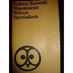 WSPOMNIENIA WIERSZE OPOWIADANIA - T. BOROWSKI_E3