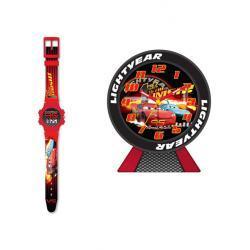 AUTA CARS zegar + zegarek LCD